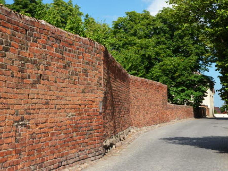 Klostermuren med Berginernas hus
