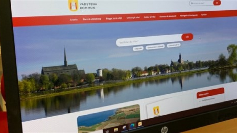 Vadstena kommun lanserar ny webbplats
