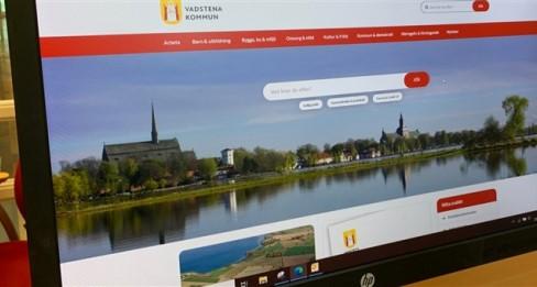 Kommunens nya webbplats syns på skärm