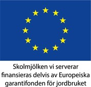 Skolmjölken vi serverar finansieras delvis av Europeiska garantifonden för jordbruket.